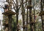 FOTO Acrobazie e divertimento al Parco Avventura alle Colonie Padane