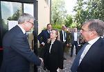 FOTO Elezioni europee: giro in redazione per Giorgia Meloni, presidente di FdI