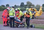FOTO Rovinosa caduta dalle scale del bar: 58enne grave e soccorso con l'elicottero
