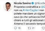 Ko la trasmissione di Inter-Cagliari: i meme più divertenti su Twitter