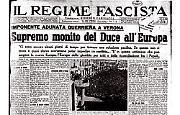 Supremo monito del Duce all'Europa: ancora pochi giorni per poter impedire un conflitto