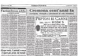 Cremona cent'anni fa da «La Provincia-Corriere di Cremona» del mese di novembre 1885