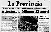 Milano, bomba alla Banca nazionale dell'Agricoltura: 13 morti