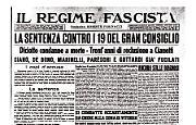 """A giudizio 6 dei """"responsabili"""" del golpe del 25 luglio 1943"""