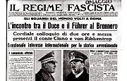 Adolf Hitler e Benito Mussolini si incontrano al Passo del Brennero