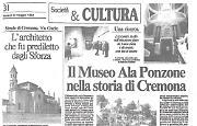 Il Museo civico «Ala Ponzone» di Cremona è stato oggetto di discussione per una tesi di laurea