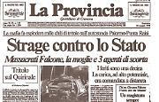 Il giudice Giovanni Falcone, la moglie e tre poliziotti della scorta trucidati dalla mafia con mille chili di tritolo