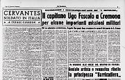 Il capitano Ugo Foscolo a Cremona
