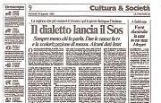 Il dialetto va sempre più scomparendo, solo il Veneto resiste