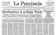 * Gorbaciov all'assemblea generale dell'Onu - Emergenza rifiuti in Italia - Arafat incontra gli ebrei americani a Stoccolma