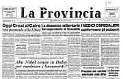 *Oggi Craxi al Cairo - *La domenica miliardaria - Abu Nidal venne in Italia per cambiare i lineamenti?