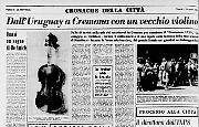 Dall'Uruguay a Cremona con un vecchio violino