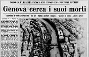 Straripamento del Bisagno a Genova