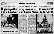Il progetto originario di Bramante per il Santuario di Santa Maria della Croce