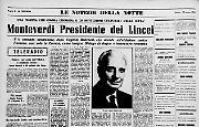 Monteverdi Presidente dei Lincei