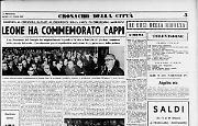 Leone ha commemorato Cappi