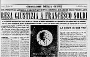 Resa giustizia a Francesco Soldi