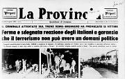 «Italicus»: attentato sul treno Roma-Brennero