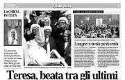 Madre Teresa è beata