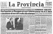 Gorbaciov e Reagan si sorridono