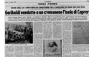 Garibaldi vendette a un cremonese l'isola di Caprera