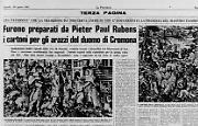 Appartengono al pittore fiammingo Rubens i cartoni per gli arazzi del duomo di Cremona