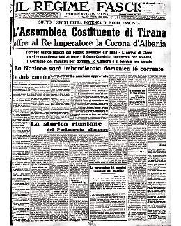 L'Albania offre la corona a Vittorio Emanuele III