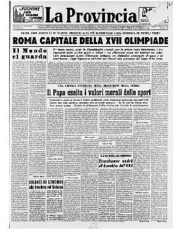 A Roma la XVII Olimpiade