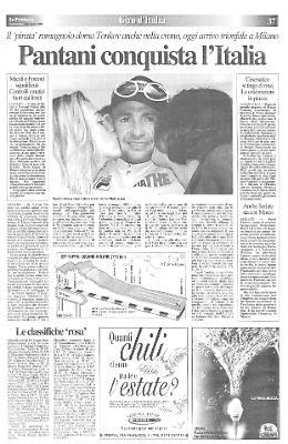 Pantani conquista l'Italia