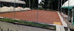 Campi da tennis, presto l'inaugurazione