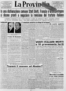 Evita una tragica sorte partecipando al Congresso dei Soldi Venti italiani morti e 10 gravemente feriti