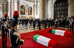 L'omaggio commosso dell'Italia ad Attanasio e Iacovacci