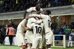 Il Milan non si ferma e passa a Bergamo, 3-2 all'Atalanta
