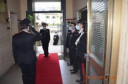 Il generale Vincelli in visita alla Santa Lucia