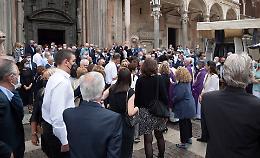 Folla e commozione per l'ultimo saluto a Marcello Caldonazzo