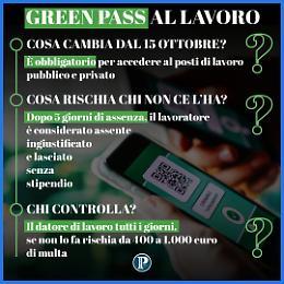 Green Pass, bozza dpcm: arriva il controllo automatizzato dipendenti