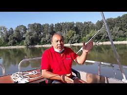 VIDEO1 Sul fiume Po con il catamarano Anguilla