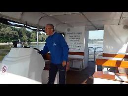 VIDEO2 Sul fiume Po con il catamarano Anguilla