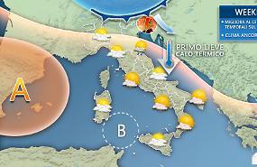 Stop al caldo anomalo, segnali d'autunno la prossima settimana