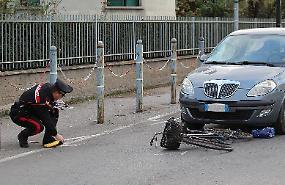 Ciclista investita da una Lancia Y, grave 48enne