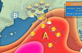 Week-end: qualche temporale al Nord. Caldo africano al Sud