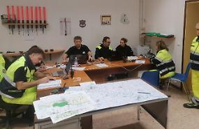 Maxi esercitazione della protezione civile lungo l'Oglio