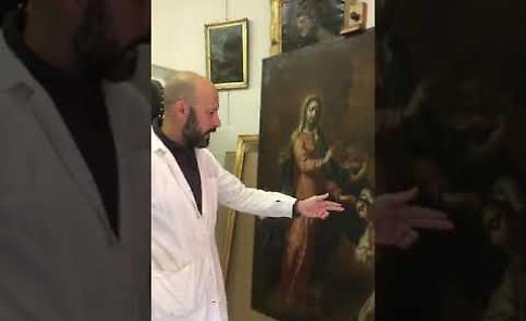VIDEO Il restauro dell'apparizione a Caravaggio di Angelo Massarotti