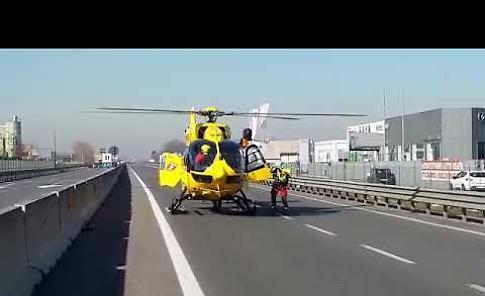 VIDEO2 I soccorsi dopo l'incidente stradale sulla Paullese