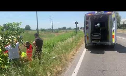VIDEO L'incidente tra auto e moto a San Nazzaro