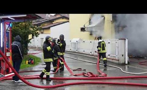 VIDEO Incendio alla Lavor Store di Vicobellignano