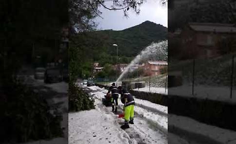 VIDEO Val Seriana: gli effetti della grandinata a Nembro