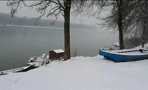 La neve imbianca Casalmaggiore e il suo fiume