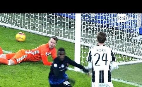 Il gol di Latte Lath nella sfida tra Juventus e Atalanta (3-2) di Coppa Italia
