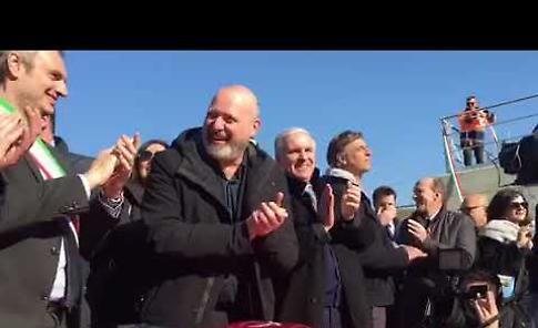 VIDEO Fiume Po, inaugurazione della conca di Isola Serafini